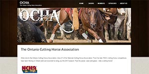 OntarioCuttingHorseAssociation.com Website
